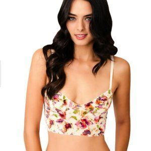 Intimately Free People Floral Creme/Ivory Bralette